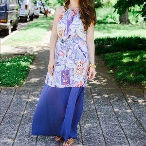 Peter Som for Kohl's Haltered Postcard Maxi Dress